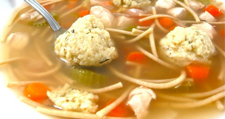 Skinny Matzo Ball Soup - Healthy Recipes